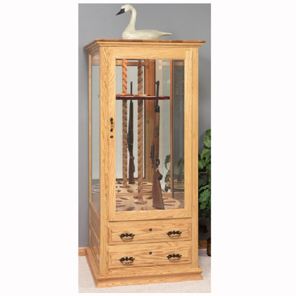 Beautiful 12 Gun Swivel Cabinet