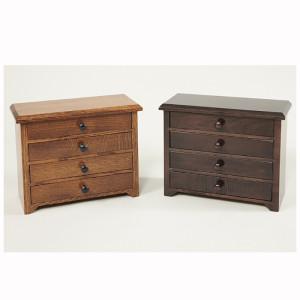 4 Drawer Shaker Jewelry Cabinet Quartersawn White Oak Brown Maple