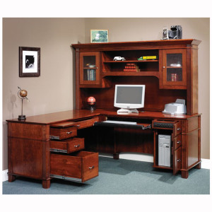 Arlington L Desk Hutch