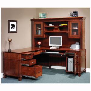 Arlington L Desk Hutch