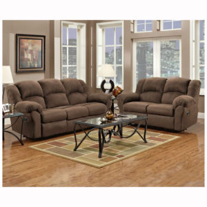 Aruba Chocolate Sofa Loveseat