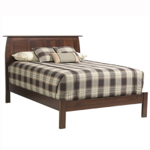 Bordeaux Panel Bed Brown Maple