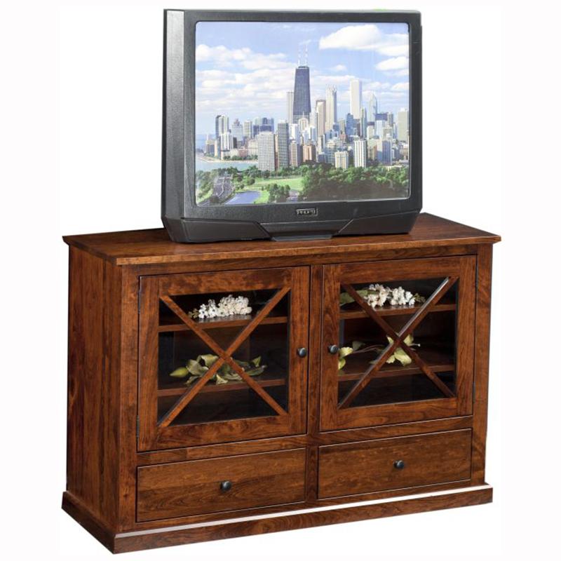 Brandy Wine Tv Stand Home Wood Furniture
