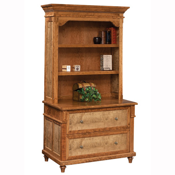 Bridgeport Lateral File With Bookcase Top Home Wood