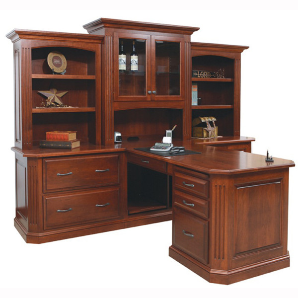Buckingham Partner Desk Three Piece Hutch