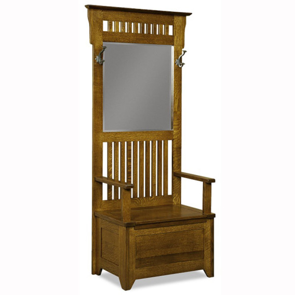 Classic Mission Hall Seat Home Wood Furniture
