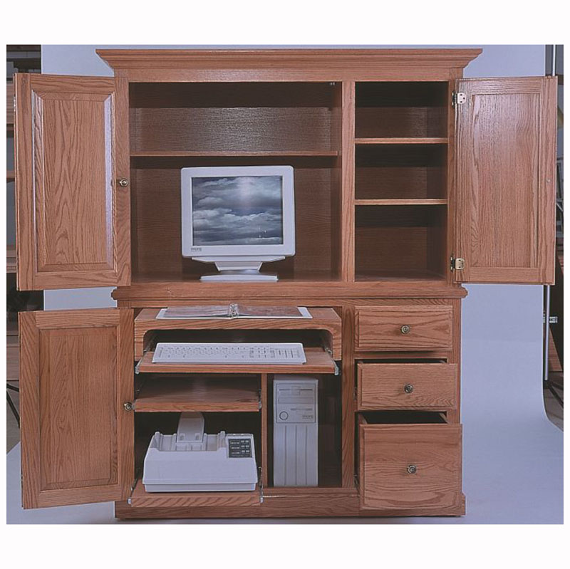 Computer armoire spice wood ebony — 8