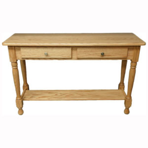 Country Rectangular Sofa Table 2 Drawers