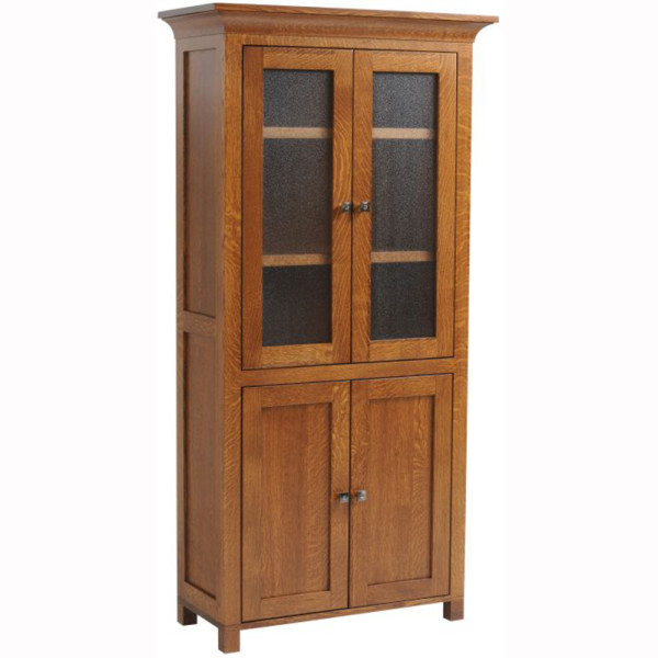 Coventry Mission Bookcase With Doors Home Wood Furniture