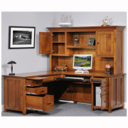 Coventry Mission L Desk Hutch