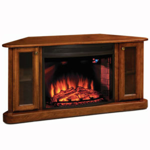 Cozy Glow Corner Fireplace