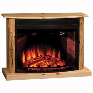 Cozy Glow Knotty Pine Fireplace