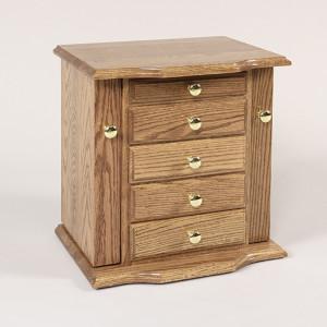 Deluxe Dresser Top Jewelry Cabinet Oak