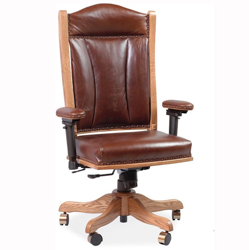 Desk Arm Chair W Gas Lift Luxury