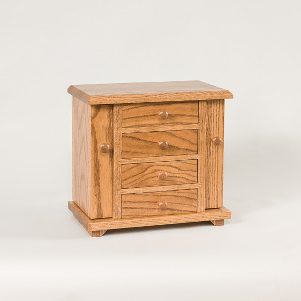 Dresser Top Jewelry Cabinet Oak