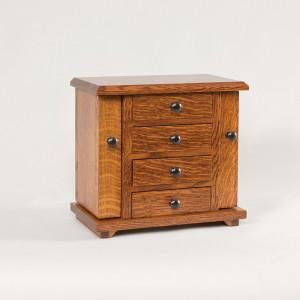 Dresser Top Jewelry Cabinet Quartersawn White Oak