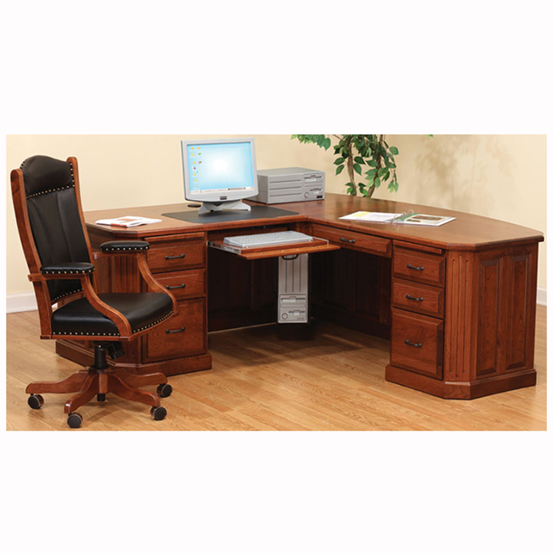 Fifth Avenue Executive Corner With Rolltop Home Wood