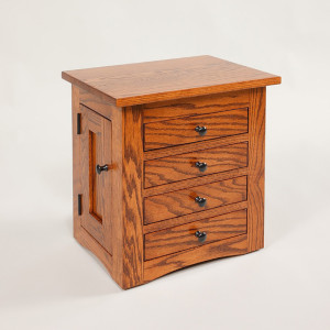 Flush Mission Dresser Top Jewelry Cabinet
