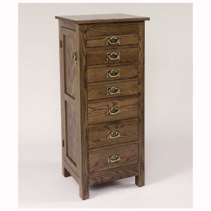 Flush Mission Jewelry Armoire Oak 48