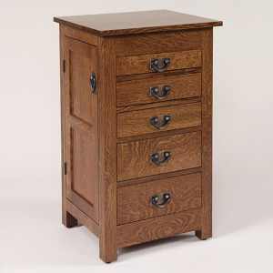 Flush Mission Jewelry Armoire Quartersawn White Oak 35