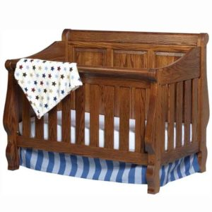 Heirloom Crib Raised Panel Back