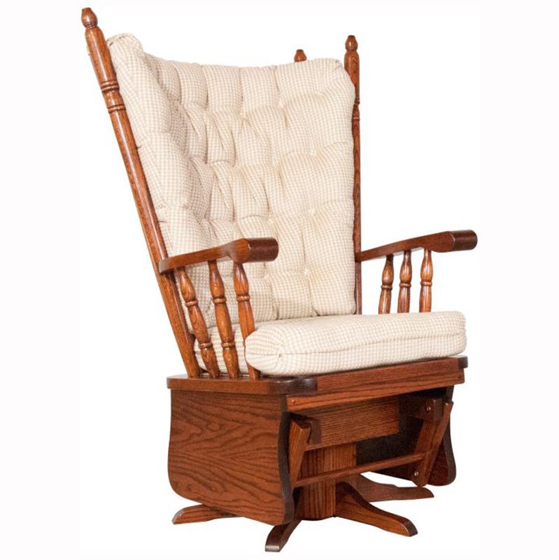 High Back Swivel Glider Home Wood Furniture