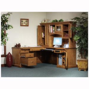Highland L Desk Hutch