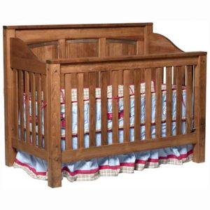 Jackson Crib Raised Panel Back