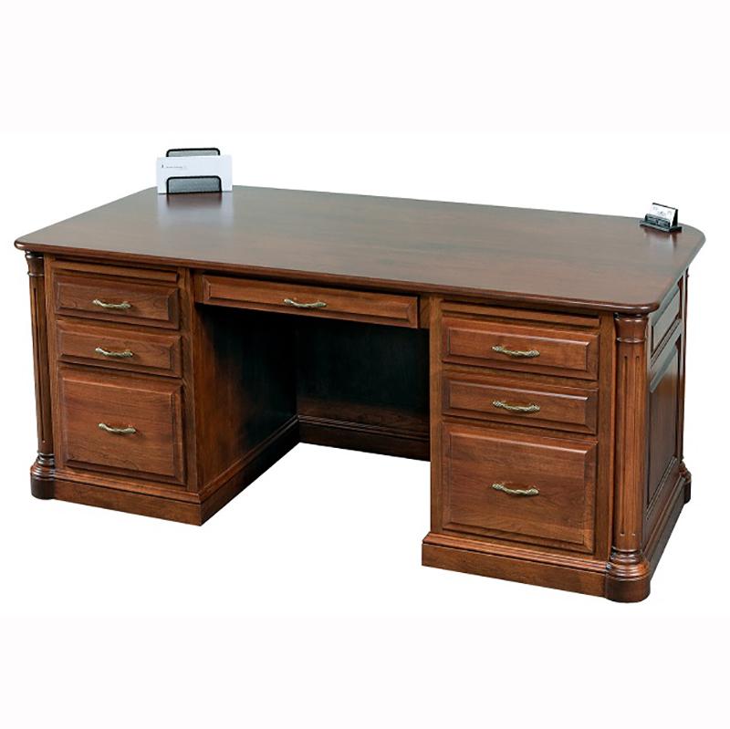 jefferson partner desk home wood furniture