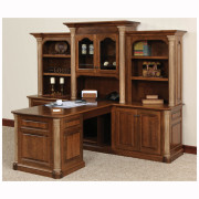 Jefferson Partner Desk Three Piece Hutch