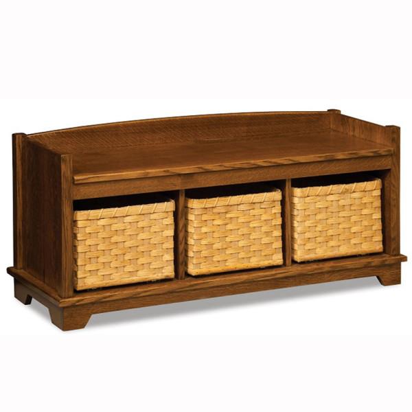 Lattice Weave Bench Baskets