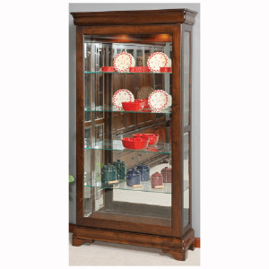 Louis Phillipe Sliding Door Curio