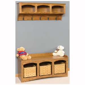 Mission Bench Baskets Shelf Storage