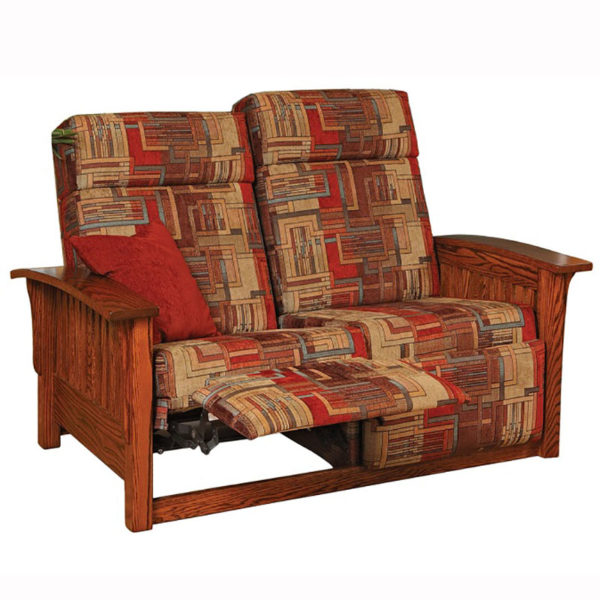 Mission Loveseat Recliner Home Wood Furniture