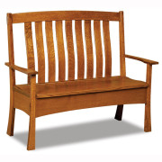 Modesto Bench Shallow Storage