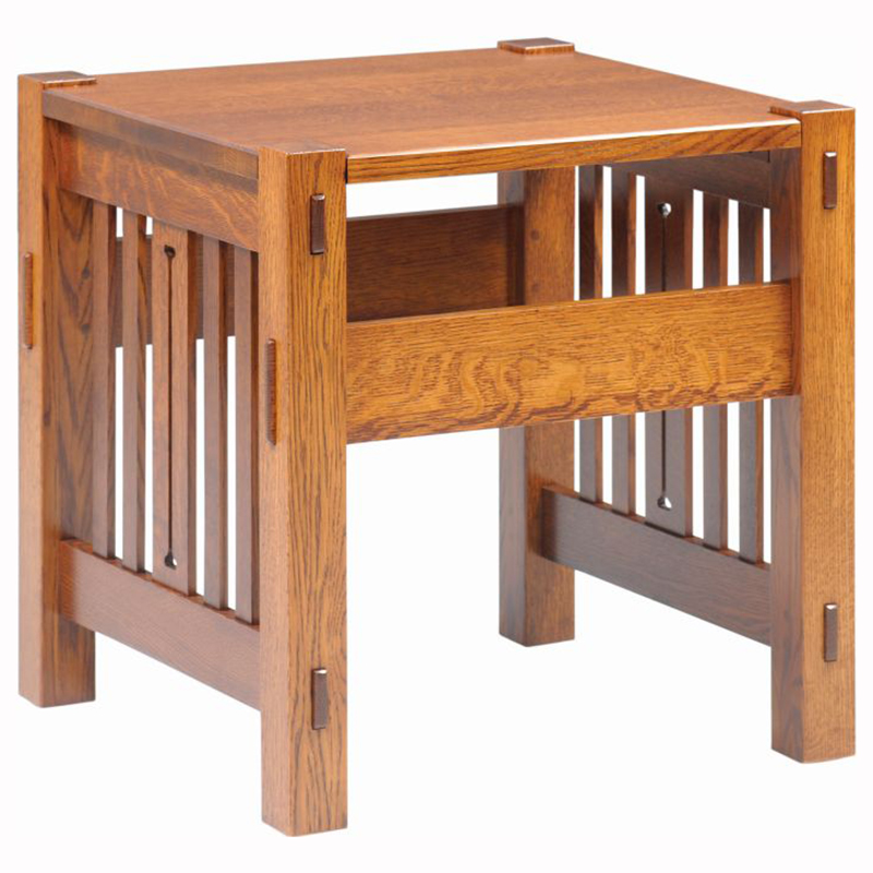 morris mission ottoman home wood furniture