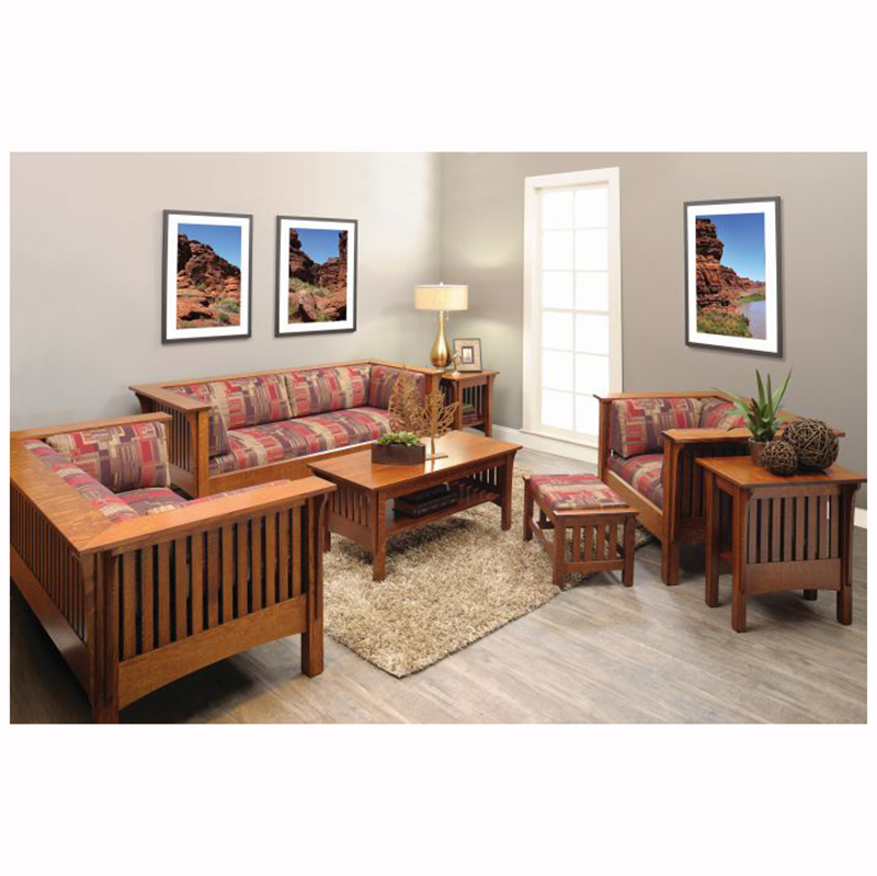Mission Ottoman Home Wood Furniture