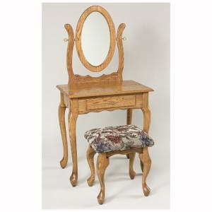 Queen Anne Dressing Table Oak 29