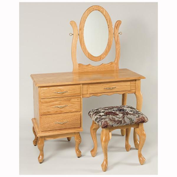 Queen Anne Dressing Table Oak 42
