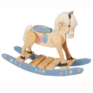 Rocking Horse Blue Balloons