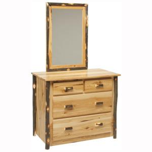 Rustic 4 Drawer Dresser