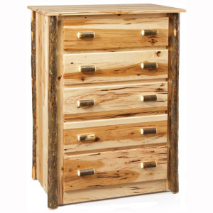 Rustic 5 Drawer Chest