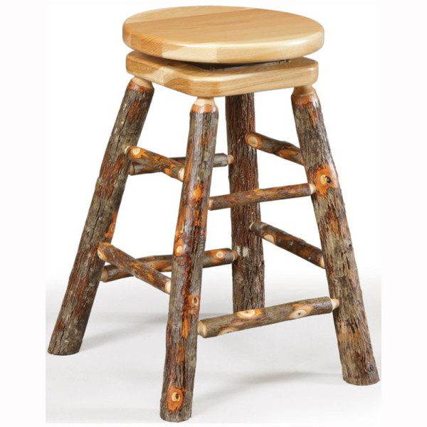 Rustic Barstool Swivel Top