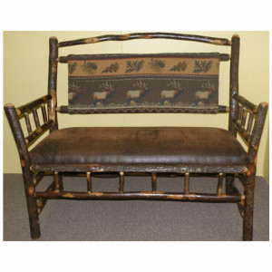 Rustic Bench Back