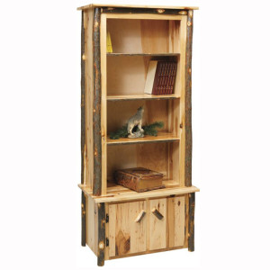 Rustic Bookcase Doors