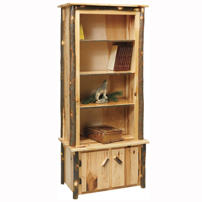 west wood old pine with rustic w cabinets bookcase