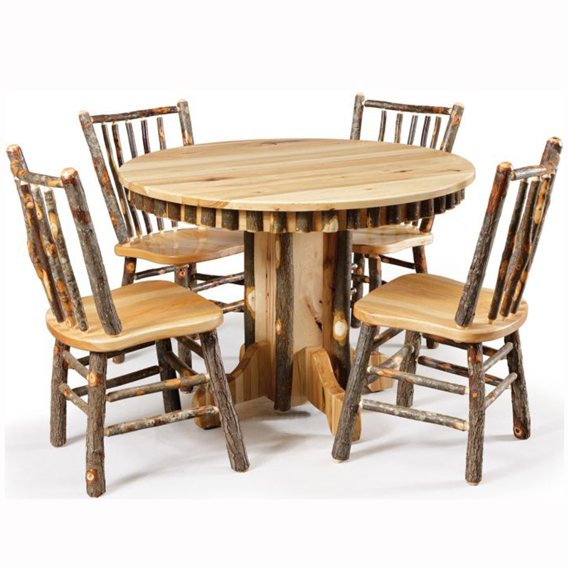 Rustic Round Dining Table Home Wood Furniture