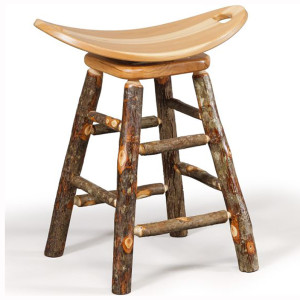 Rustic Swivel Saddle Barstool