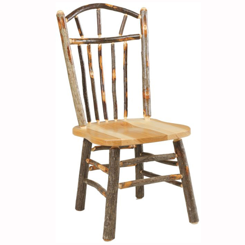 Rustic Wagon Wheel Dining Chair