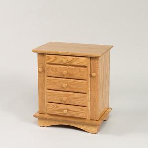 Shaker Dresser Top Jewelry Cabinet Oak